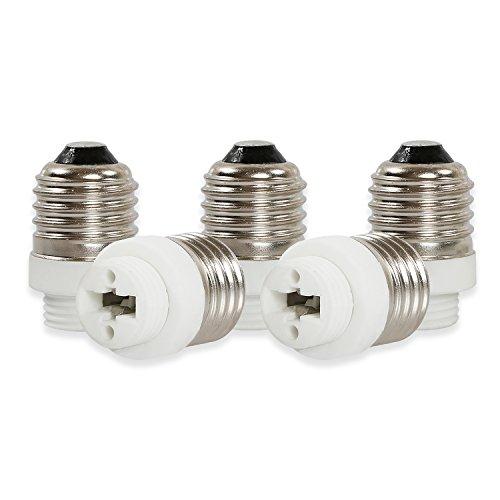Yblntek Lot de 5 supports de lampe Adaptateur d'ampoule lumière LED, Plastique Métal, E27 to G9, E27 to G9, E14