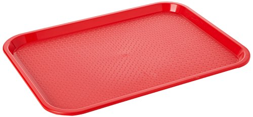 Kristallon P504 Foodservice Tray, Kristal Lon, Plastic, Medium, Red