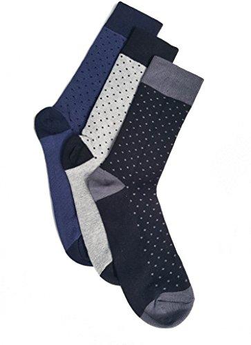 Herrensocken   3 PAARE   Gepunktete Herrensocken   Crew Socken   EU-Größe 38-46   Baumwollsocken   Polka Dot Socken für Männer   in Schwarz Blau Grau - Polka Dot Kinder Socken
