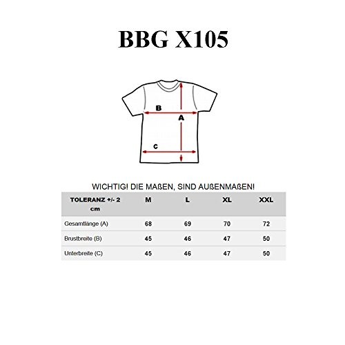 BOLF Herren T-Shirt Tee Kurzarm Kapuze Classic Aufdruck Print Motiv 3C3 Slim Grau_X105