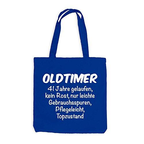 Jutebeutel - Oldtimer Geburtstag 41 Jahre - Birthday 41 Years Fun Geschenkidee Royalblau