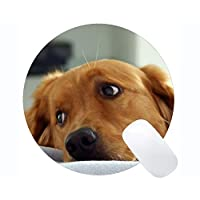 Yanteng Customized Round Mouse Pad,Puppy Dog Cute Dog Free Download Computer PC Round Mouse Mat