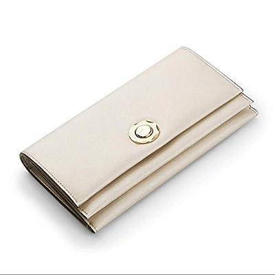 ZLR Mme portefeuille Porte-monnaie à la longue mesure de dames Porte-monnaie en cuir de vachette à grande capacité Wallet Lady Folding