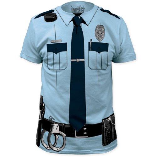 Impact Originals - - Männer Johnny Law Big Print Subway T-Shirt in Hellblau Light Blue