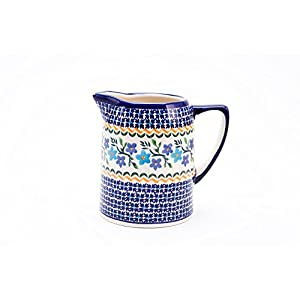 Hand-Decorated Polish Pottery Milk Jug 0.7 Litres/14.5 cm Diameter Height 13,0 cm Decorative 1154 A