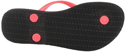 Havaianas Ladies Slim Logo Toe Separator Nero (nero / Corallo)