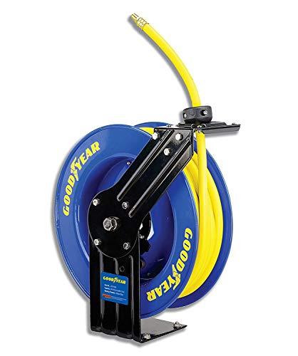 Goodyear l815153g acciaio a scomparsa compressore d' aria/acqua avvolgitubo con 3/8pollici x 15,2m. tubo in gomma, max. 300psi