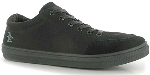 original-penguin-frantic-black-suede-mens-trainers-shoes-9