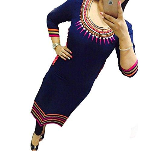 Selfie Style- Trendy Fancy Georgette Embroidary Neck Work Kurtis-xl