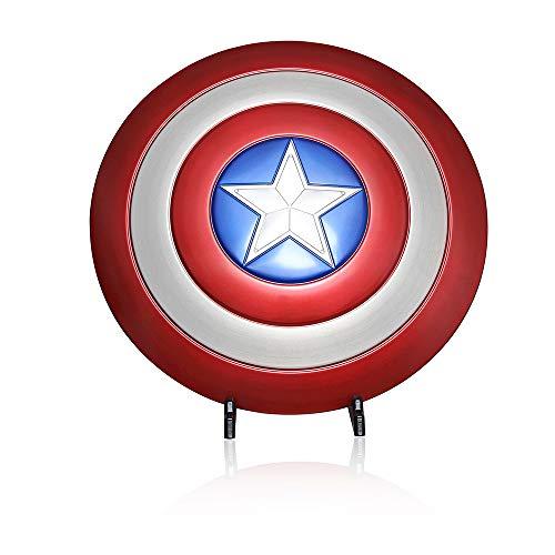 Captain America Schild aus Metall in Orginal Größe mit Gestell | Helden Figur Kostüm Avengers Marvel Legends DC Comics