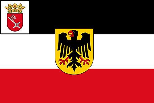 magFlags Flagge: Large Seedienstflagge Bremen 1921   Seedienstflagge Bremens 1921-1933   Querformat Fahne   1.35m²   90x150cm » Fahne 100% Made in Germany