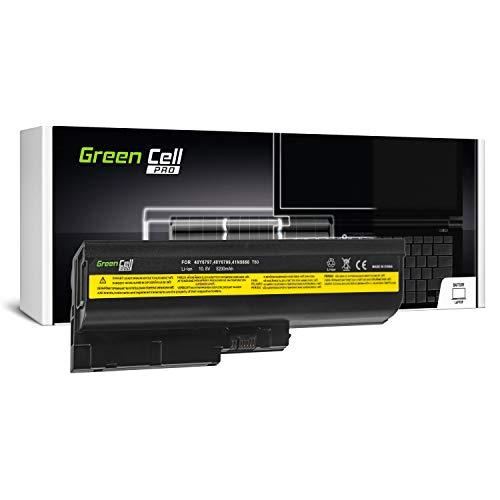 Green Cell Pro Serie Laptop Akku für Lenovo IBM ThinkPad R60 R60i R60e R61 R61e T60 T60p T61 SL400 SL500 R500 T500 W500 (Original Samsung SDI Zellen, 6 Zellen, 5200mAh, Schwarz)