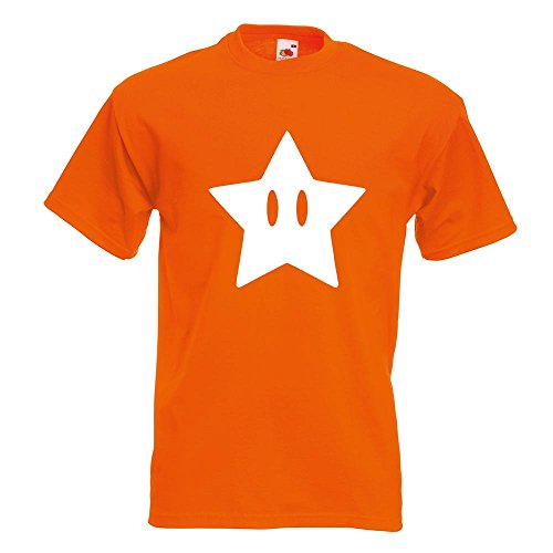 KIWISTAR - Super Star Stern T-Shirt in 15 verschiedenen Farben - Herren Funshirt bedruckt Design Sprüche Spruch Motive Oberteil Baumwolle Print Größe S M L XL XXL Orange