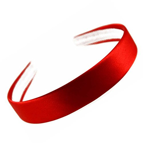 Haarreif, mit rotem Satin bezogen, 2,5 cm breit