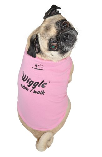 Hund Tank Top, Wackel-When I Walk, Pink, klein (E Walk Dog Kostüm)