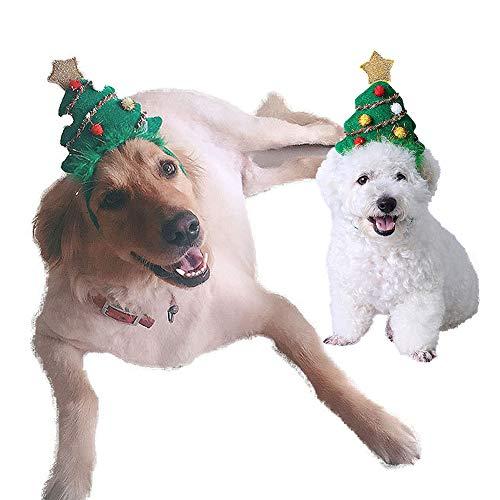 FEIDAjdzf Weihnachts-Stirnband für Haustiere, Hund und Katze, Geschenk für Weihnachten, Party, verstellbares Haarband