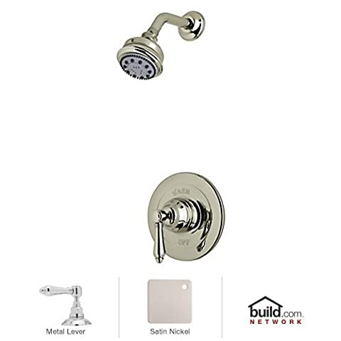 Rohl AKIT21LM-STN Country Bath Pressure Balance Shower Package, Satin by Rohl