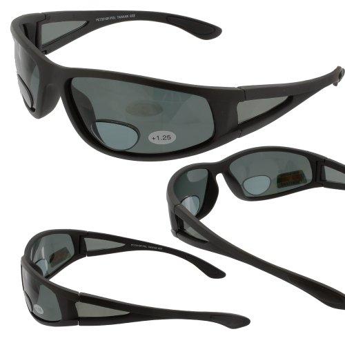 Unknown Ragged Grau Polarisiert Bifocal Sonnenbrillen Lupe Readers 3.00 1