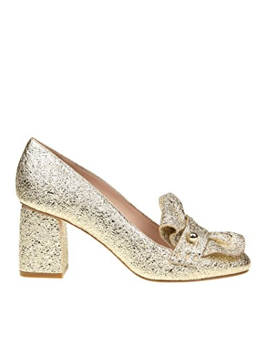 Red Valentino Damen Pq2s0a49p18eaq Gold Leder Pumps