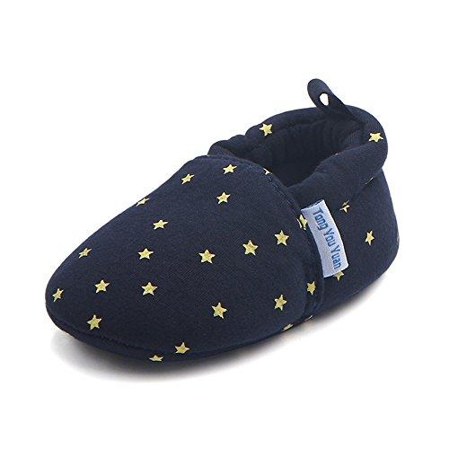 TININNA Bébé Filles Garçons Cinq Pointes étoile Modèle Coton Chaussures Doux Unique Prewalker Shoes de Lit pour Bébé #12