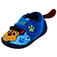 Paw Patrol Boys 3D Fleece Lined Slippers Kids Chase Nursery House Shoes Size