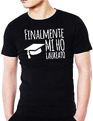 Idea Regalo - Wixsoo T-Shirt Maglietta Laurea Divertente Premium (L, Nero)