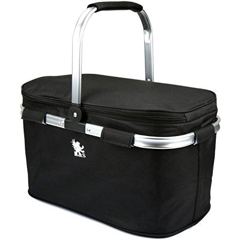 H & S® Plegable Picnic Camping aislante térmico para bebidas frías Cool cesta con cremallera bolsa width=