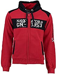 Geographical Norway - Sweat à capuche Enfant Geographical Norway Glapping Rouge