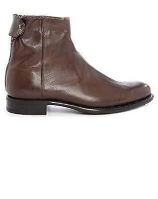 Boots Claude Cuir Zippée Marron