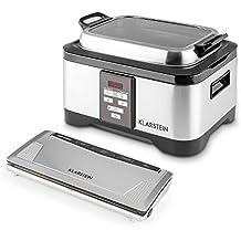 Klarstein Tastemaker Sous Vide Foodlocker Set olla de cocción lenta y máquina envasado al vacío (cocina saludable, fácil y rápida utilización)