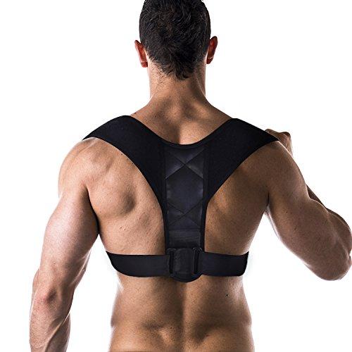 Haltungskorrektur des Rückens: Orthese zur Unterstützung der Wirbelsäule, Kyphosis - Band Correction Back verstellbar Rückenposition für Männer und Frauen