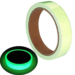 ARTGEAR Glow in The Dark Self-Adhesive Tape, Green Light Luminous Tape Sticker, 16.4 ft x 0.8 inch (5m x 2cm): Waterproof, Removable, Durable, Wearable, Stable, Safety