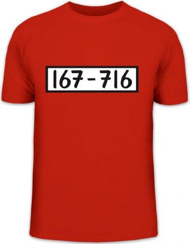 Shirtstreet24, PANZERKNACKER, JGA Karneval Fasching Kostüm Herren T-Shirt Fun Shirt Funshirt, Größe: M,rot (M&m T Shirt Kostüm)