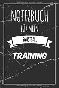 Notizbuch für mein Faustball Training: Das ultimative Faustball...