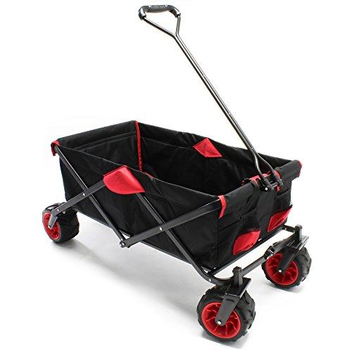 Faltbarer Bollerwagen Transportwagen mit Kunststoffrädern und 80kg max Ladegewicht