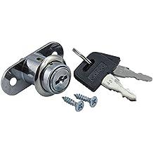 Para puerta corredera SECOTEC presión cilindro 19 mm niquelado, 105033066