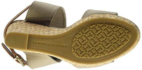 Tommy Hilfiger E1285DEL 3d, Sandali a Punta Aperta Donna Beige (Fungi 058)