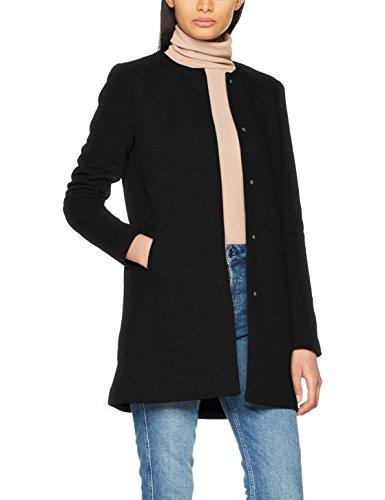 ONLY Damen Mantel Onlsidney Light Coat Otw Noos, Schwarz (Black Black), 38 (Herstellergröße: M)