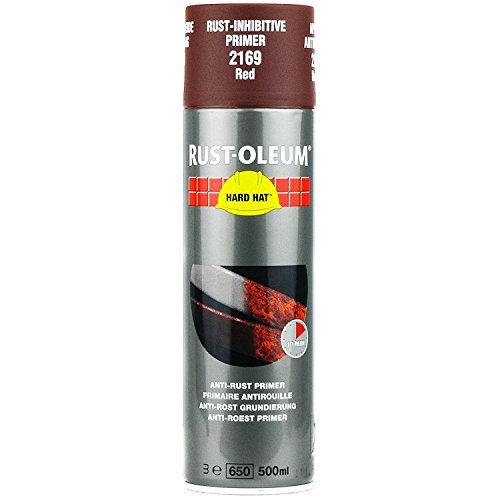 Rust-Oleum Industrial Hard Hat Anti-Corrosion Primer Red 2169 Aerosol Spray Paint 500ml (24 Pack)