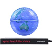 """6 """"Globo terráqueo levitación magnética estilo con asiento libro flotante luz de la decoración de regalos para el hogar y la oficina 14cm Azul"""