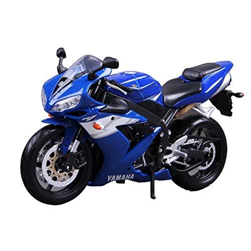 RENJUN Modelo de Motocicleta 1:12 Yamaha YZF-R1 Locomotora de Carretera de aleación de fundición a presión de Juguete joyería de colección de Autos Deportivos joyería Azul 17x10cm