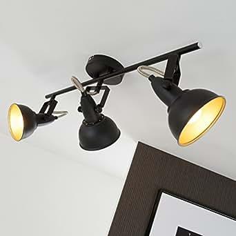 briloner leuchten 2049 035 deckenleuchte deckenlampe mit 3 dreh und schwenkbaren spots im. Black Bedroom Furniture Sets. Home Design Ideas
