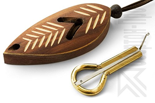 Kiefer-Harfe von P.Potkin - Altay-Maultrommel mit Etui - PP27 - Mund-Musikinstrument - Dark Leaf