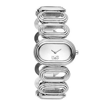 D&G Cortina Ladies Quartz Watch DW0617 with Silver Analogue Dial, Stainless Steel Case And Bracelet