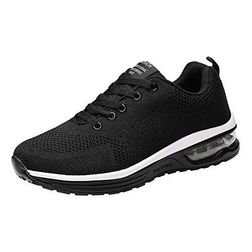 Dégagement!! Chaussures de sport en tissu décontractées tissées Air trainers Fitness Flats Running Sneakers de compétition spo