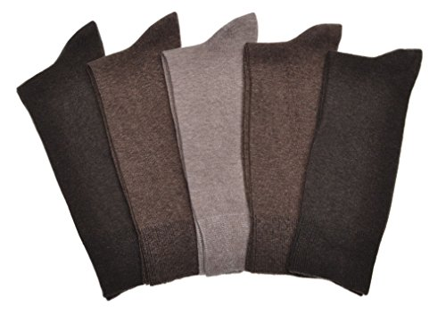 5-pairs-of-mens-brown-cotton-socks-large-uk-mens-shoe-size-9-12