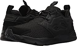 Reebok Furylite Refine Fashion Sneaker Black/White 4 D(M) US