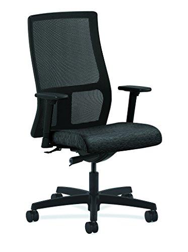 HON Zündung Serie mid-back Arbeit Stuhl–Mesh Computer Stuhl für Büro Schreibtisch, Onyx (hiwm2)