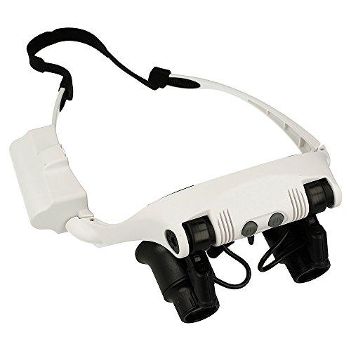 Electrónica Rey Gafas Precisión Zoom 10X-25X Luz