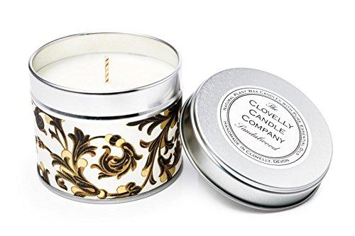Scheda dettagliata Clovelly Soap Candela profumata al Sandalo 40 Ore di Profumo Fatta a Mano nel Regno Unito con Prodotti Naturali al 100% Relax e Comfort
